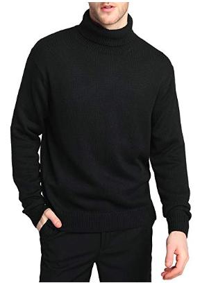 Black turtleneck sweater from amazon.com