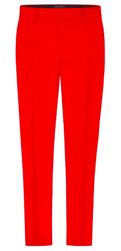 Red Louis Vuitton cigaret trousers from louisvuitton.com