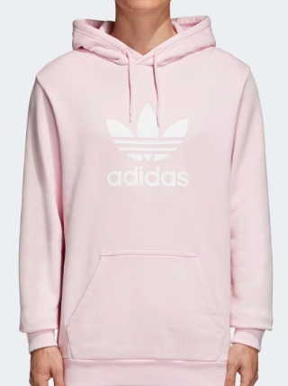 Oversized baby pink hoodie from adidas.ca