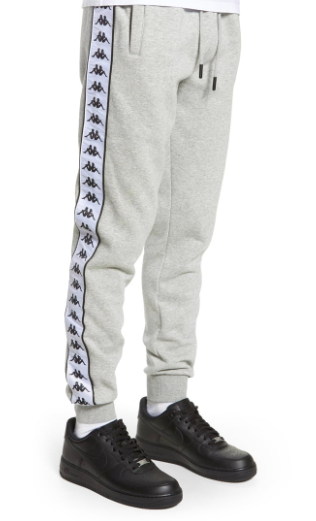 Kappa grey sweatpants with black sidestripe from nordstrom.com