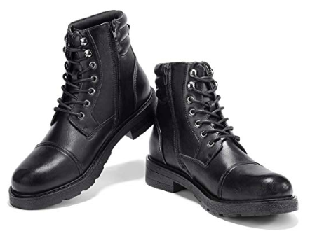 Black military boots from amazon.com