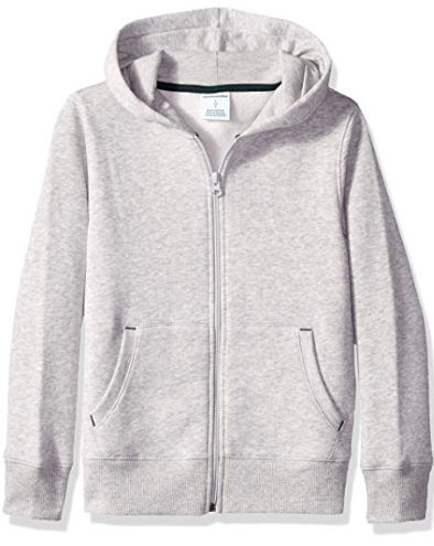 Grey zip-up hoodie from amazon.com