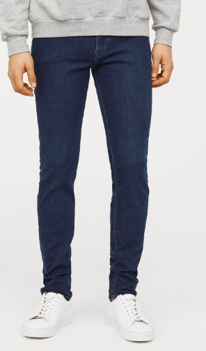 Dark denim jeans from hm.com