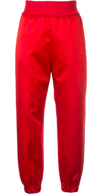 Red High wasted track pants from farfetch.com