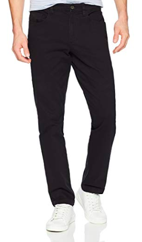 Slim-fit black pants from amazon.com