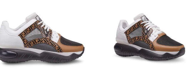 Fendi chunky monogram runner sneakers from farfetch.com