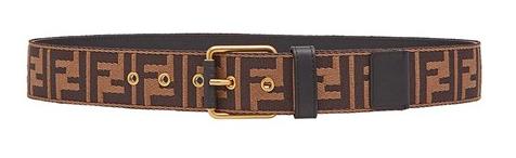 Fendi logo print belt from montiboutique.com