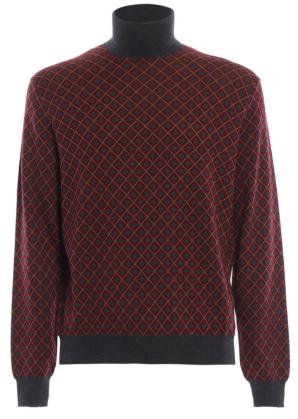 Prada Argyle pattern turtleneck sweater from ikrix.com