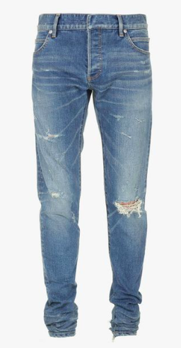 Balmain slim-fit destroyed jeans from balmain.com