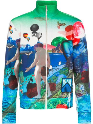 Colourful Prada bomber jacket from farfetch.com