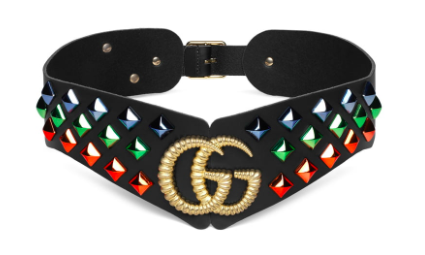 Gucci Double G studded leather belt from nordstrom.com