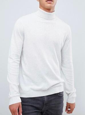 White roll neck jumper from asos.com