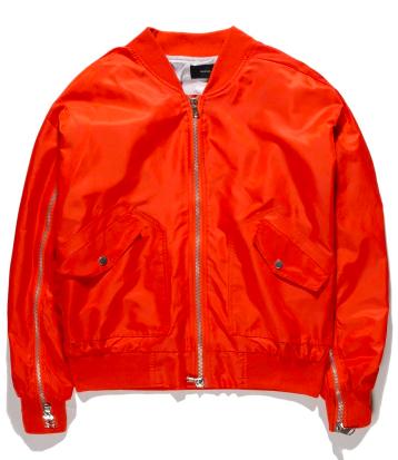 Orange men's jacket from aliexpress.com