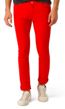 Red denim jeans from vapingukapp.com