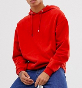 ASOS Oversized Hoodie in Red from asos.com