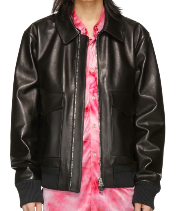 Black Leather Lazlo Jacket from ssense.com
