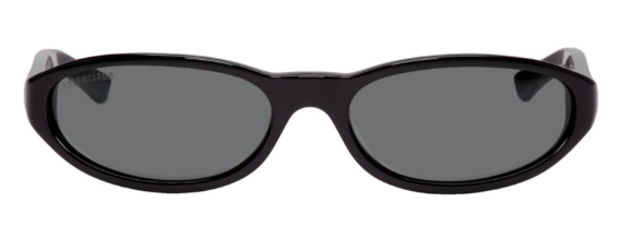 Black Neo Round Sunglasses from ssense.com
