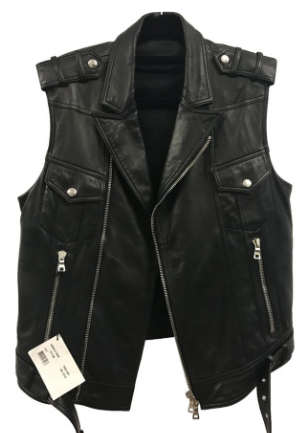 Balmain Leather Vest from vestiairecollective.com