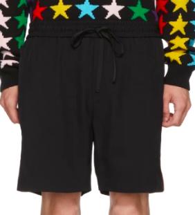 Black Logo Tape Shorts from ssense.com