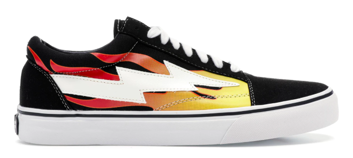 Revenge X Storm Low Top with Flames from stockx.com