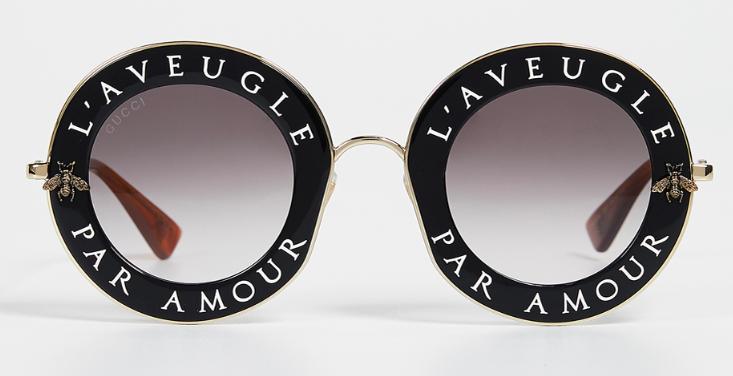 """Gucci Glasses """"L' Aveugle Par Amour"""" from shopbop.com"""