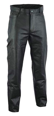 Genuine Leather Black Pants from amazon.com