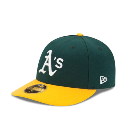 Oakland green and yellow hat from MLB Shop