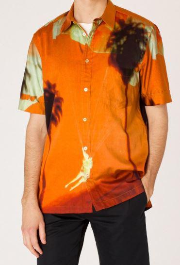 Orange Paul's Photo Print Shirt from paulsmith.com
