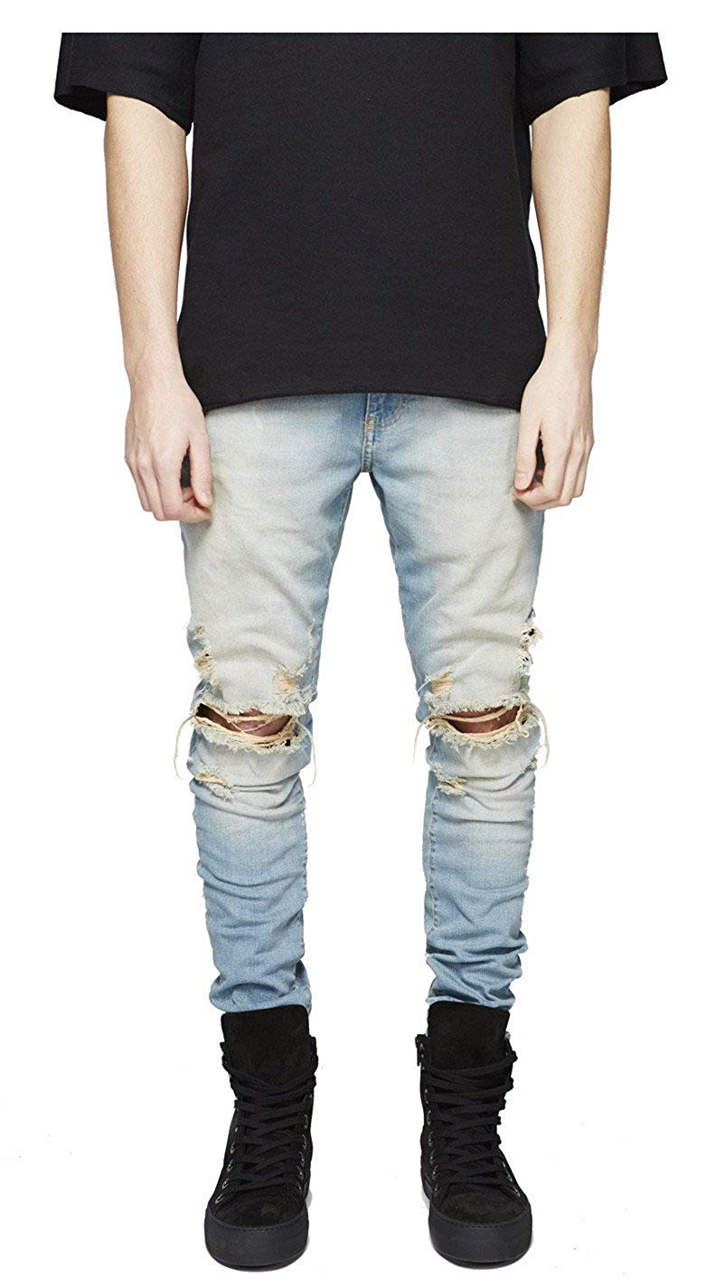 Distressed Blue Jeans from amazon.com