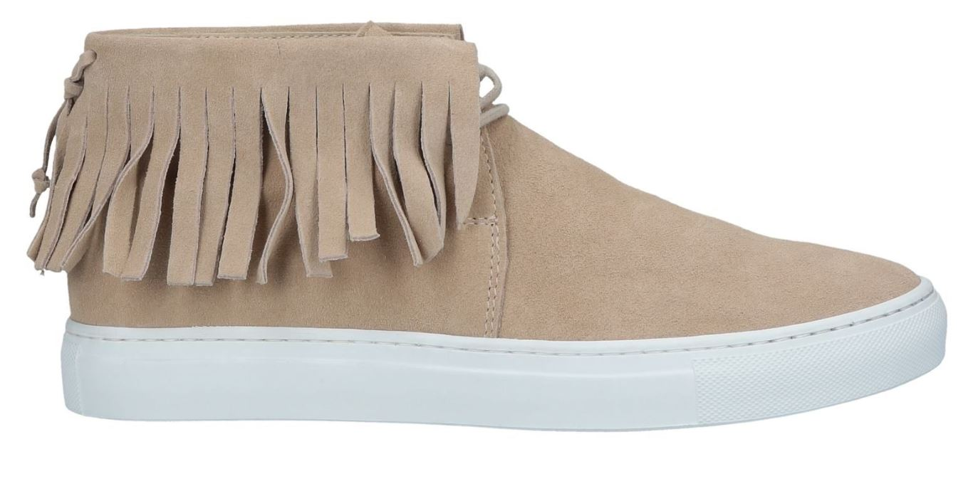 Fringed Mid-Top Sneakers from yoox.com