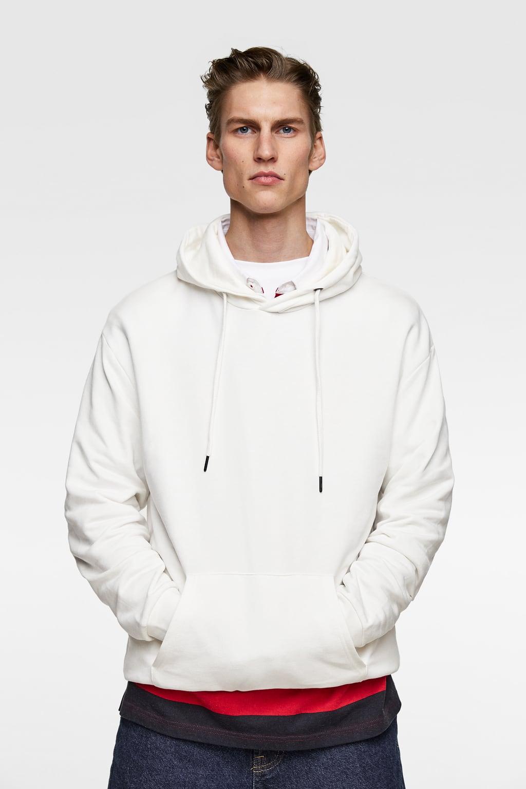 White Hoodie from zara.com