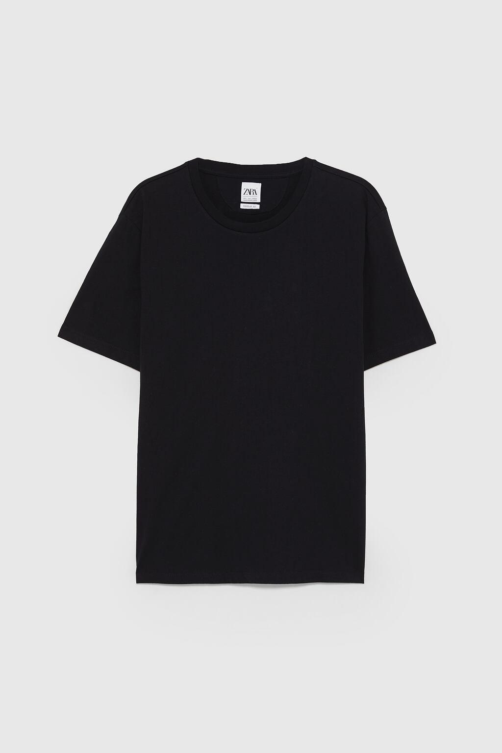 Black T-Shirt from zara.com