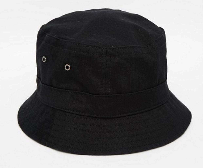 Black Bucket Hat from asos.com