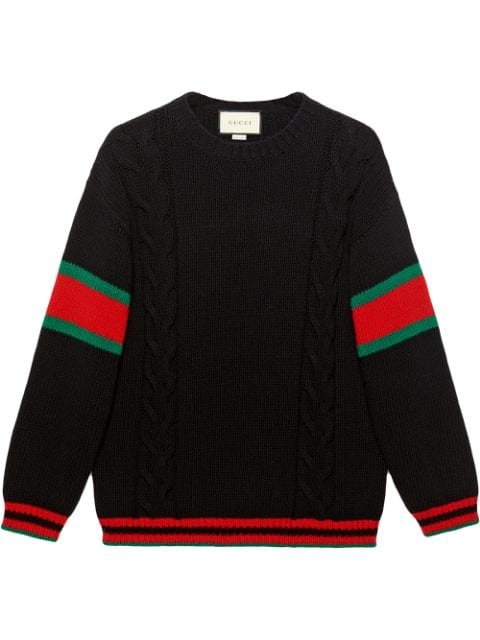 Gucci Cable Knit Jumper from farfetch.com