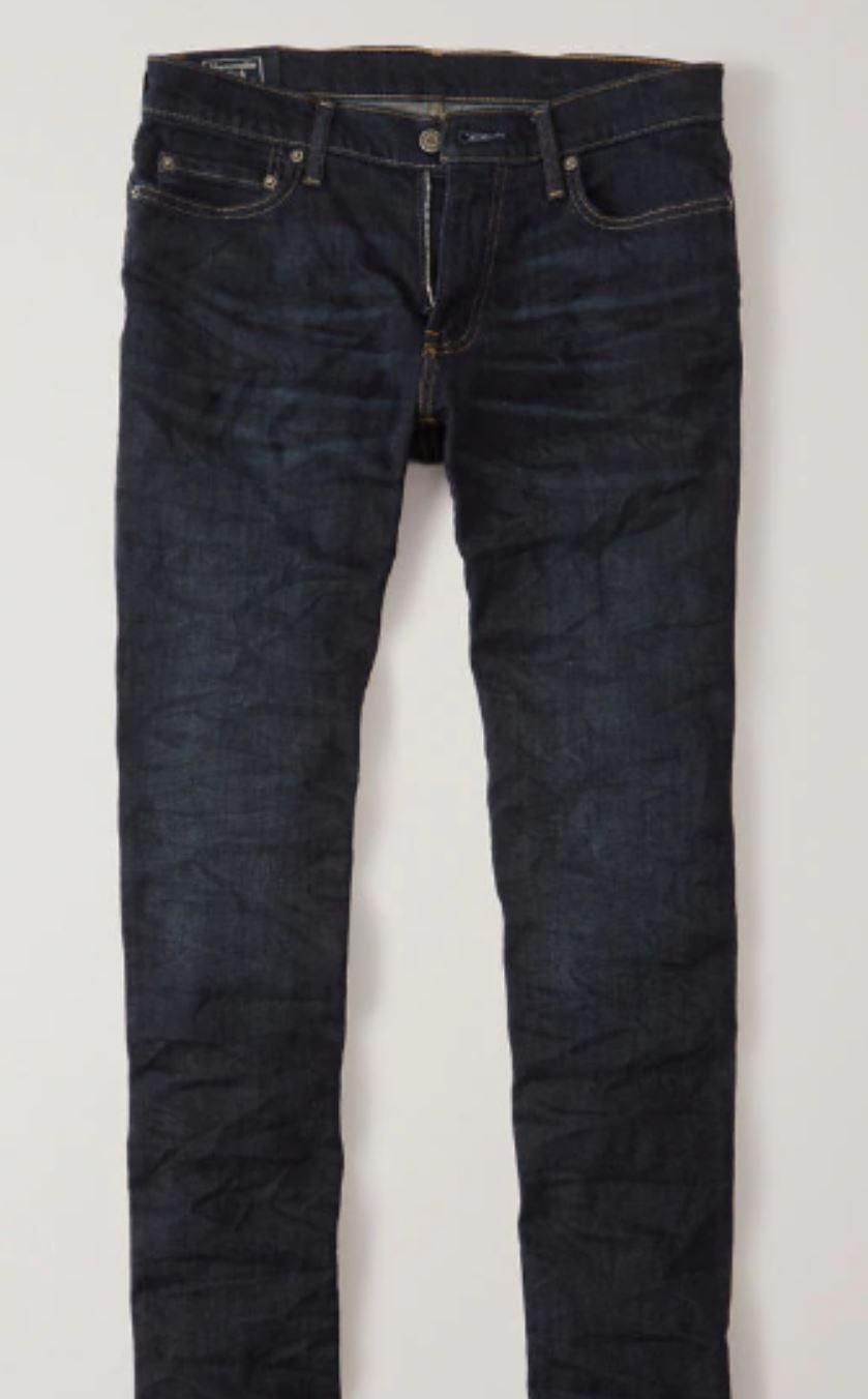 Dark Grey Jeans from abercrombie.com