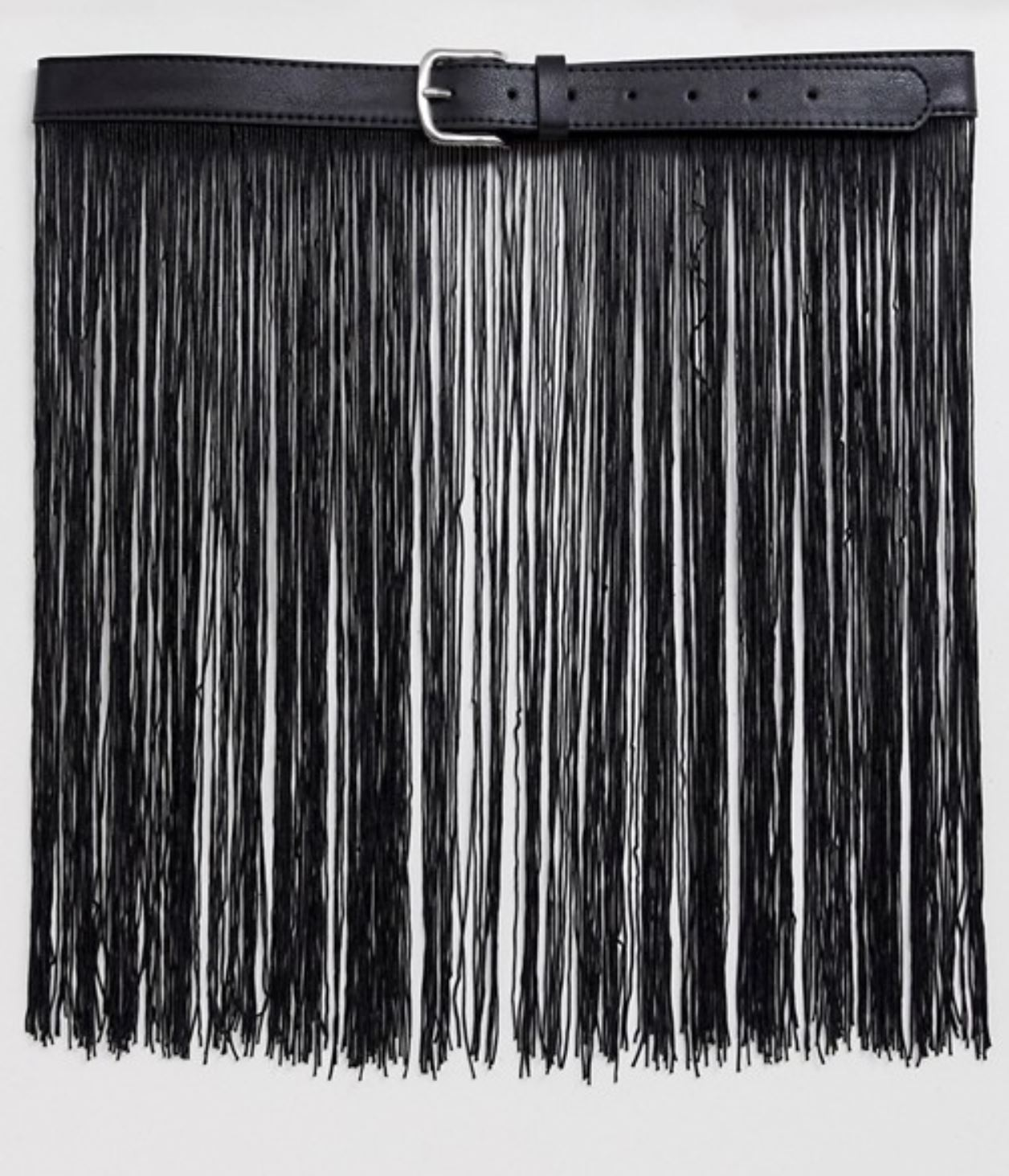 Fringed Suede Belt Bag from asos.com