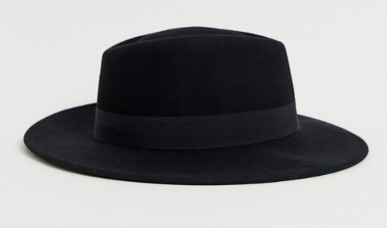 Black Felt Hat from asos.com