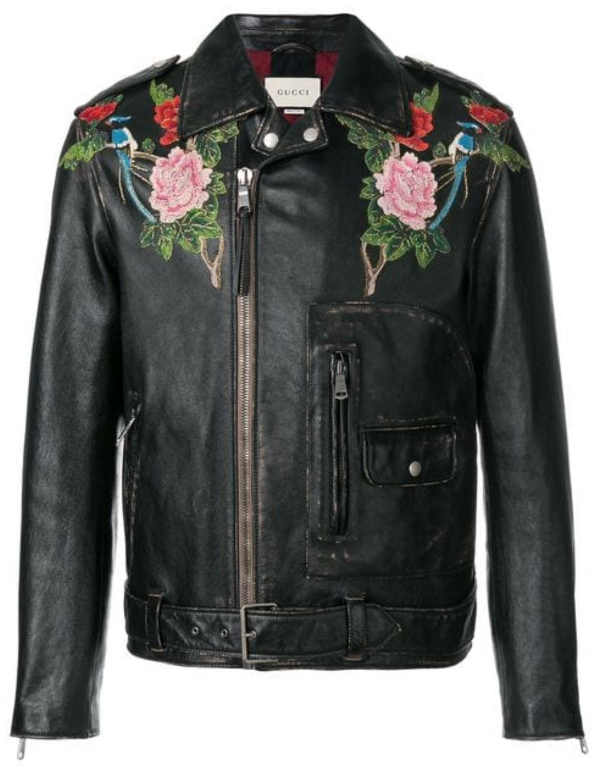 Embellished Leather Jacket from farfetch.com