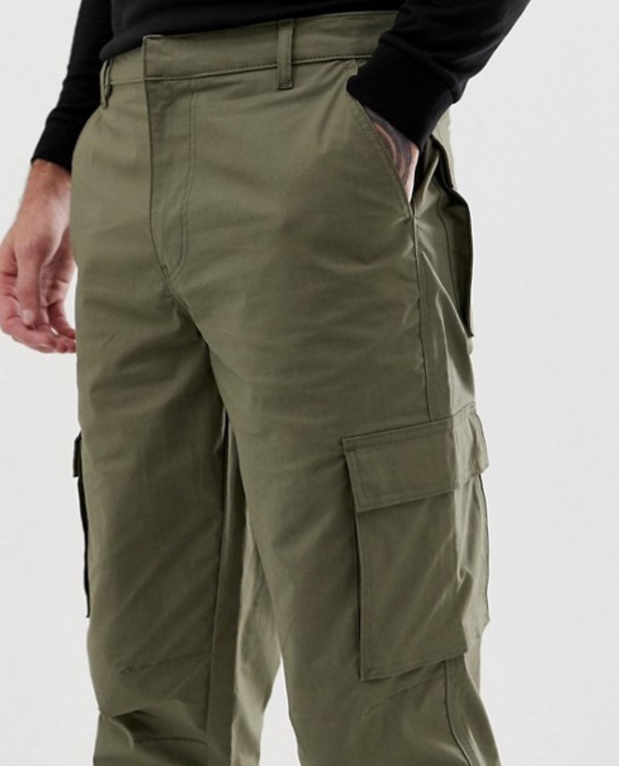 Khaki Cargo Pants from asos.com