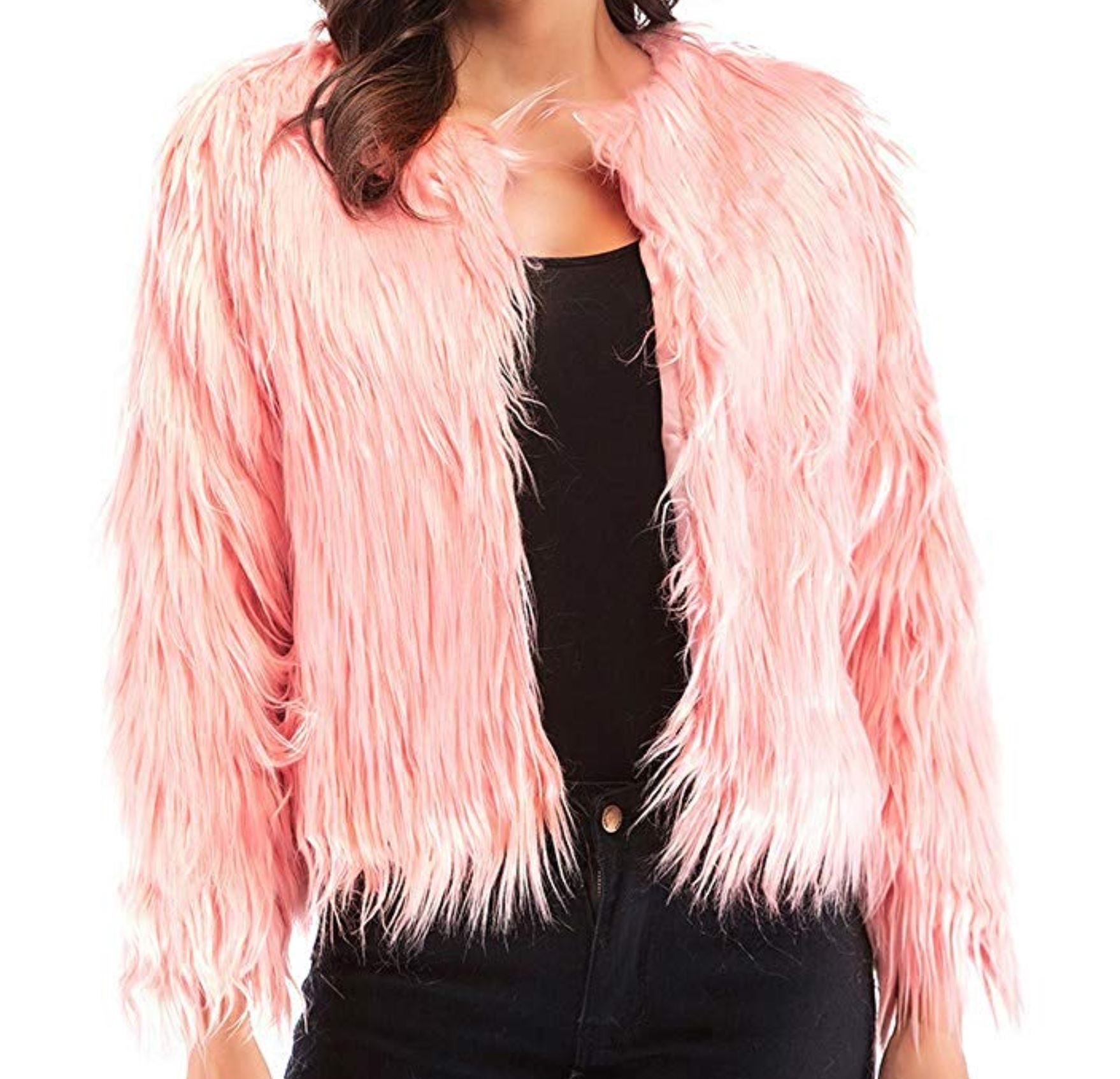 Pink Fur Jacket from amazon.com