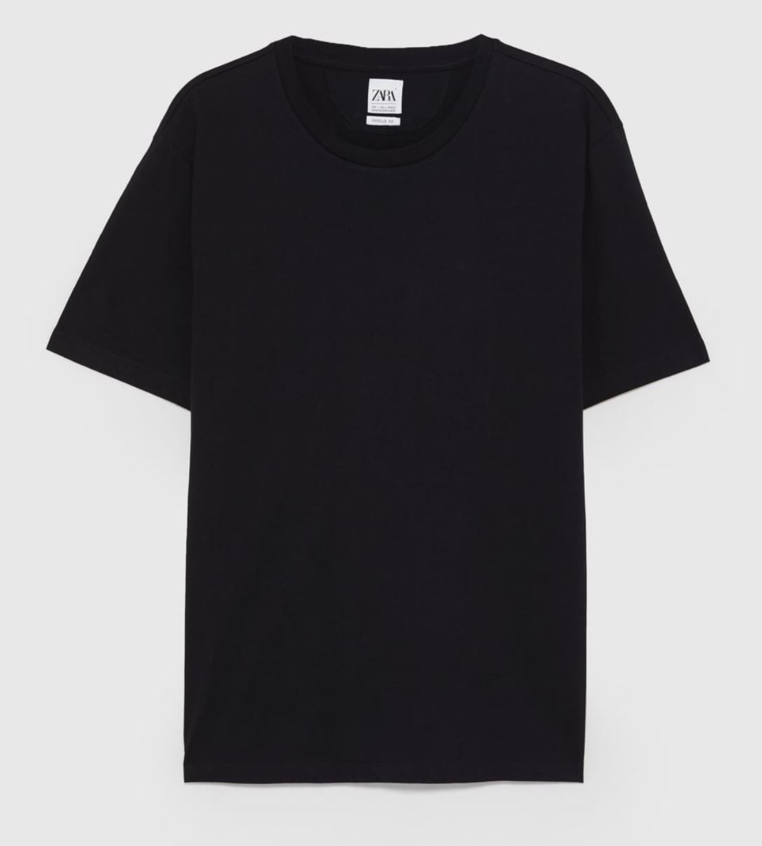 Black T-Shirt from zara.com
