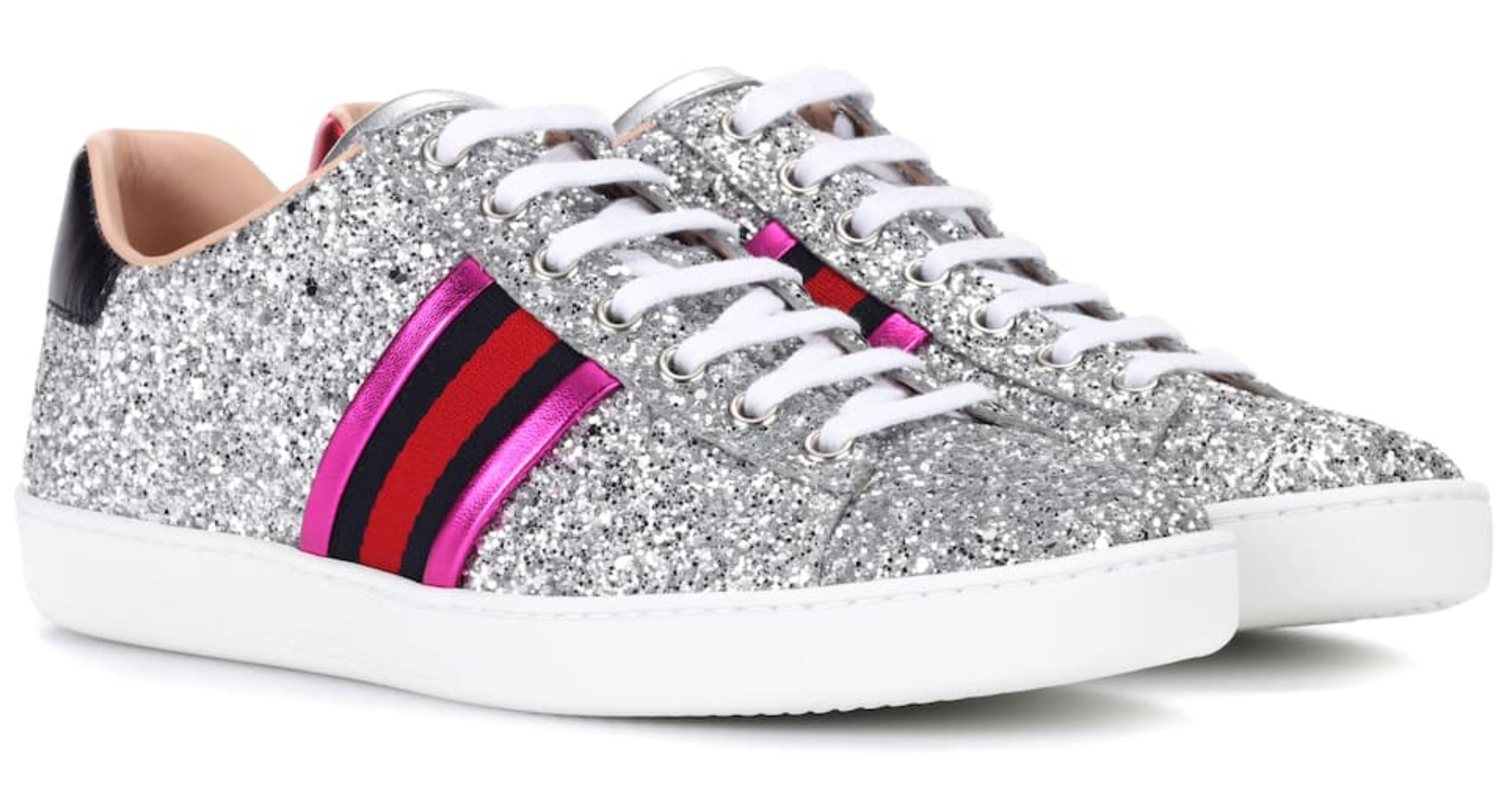 Glitter Gucci Aces from mytheresa.com