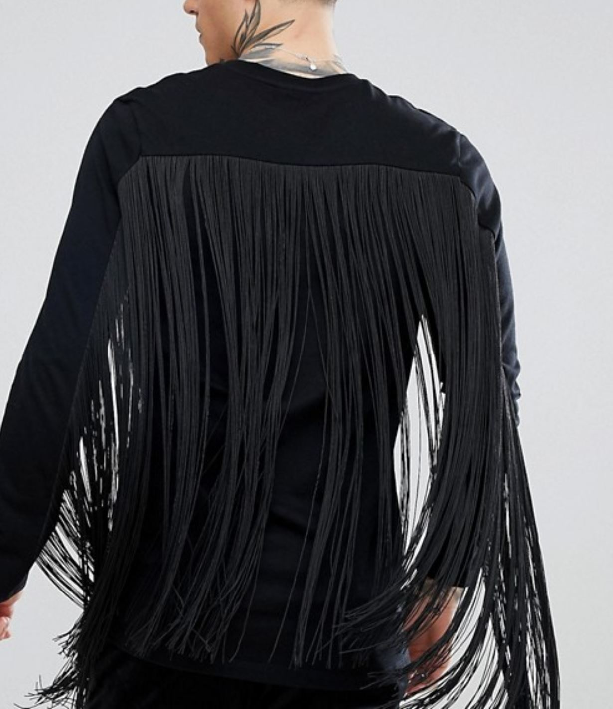 Fringed Black Top from asos.com