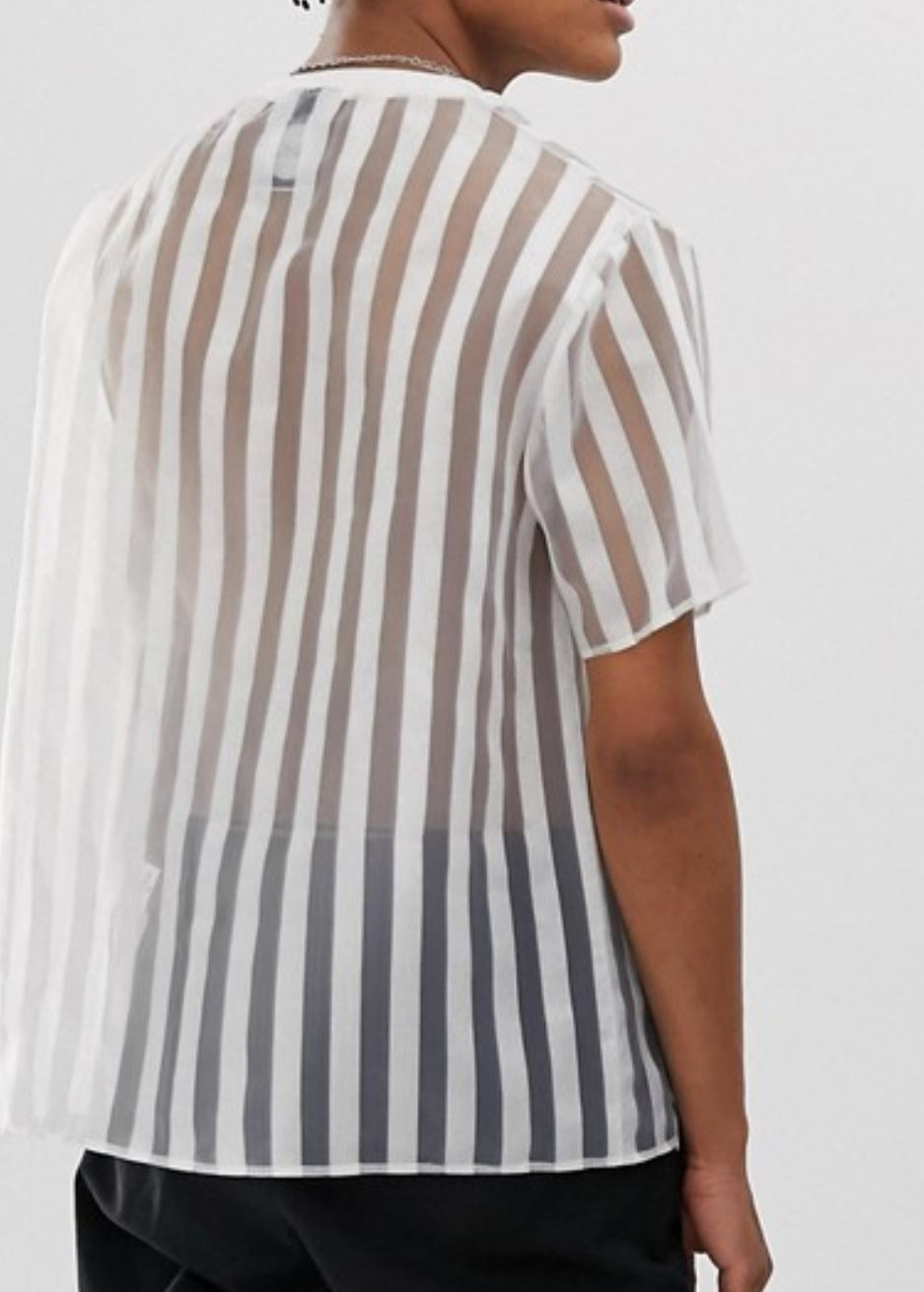 See-Through, Striped Top from asos.com