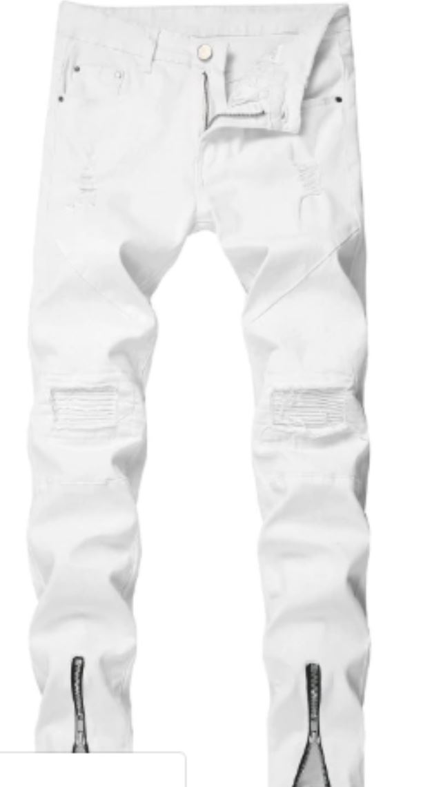 White Denim Jeans from eur.zaful.com