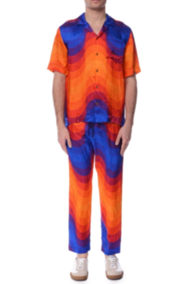 Blue Orange Pants and Shirt from incorporatedstyle.com