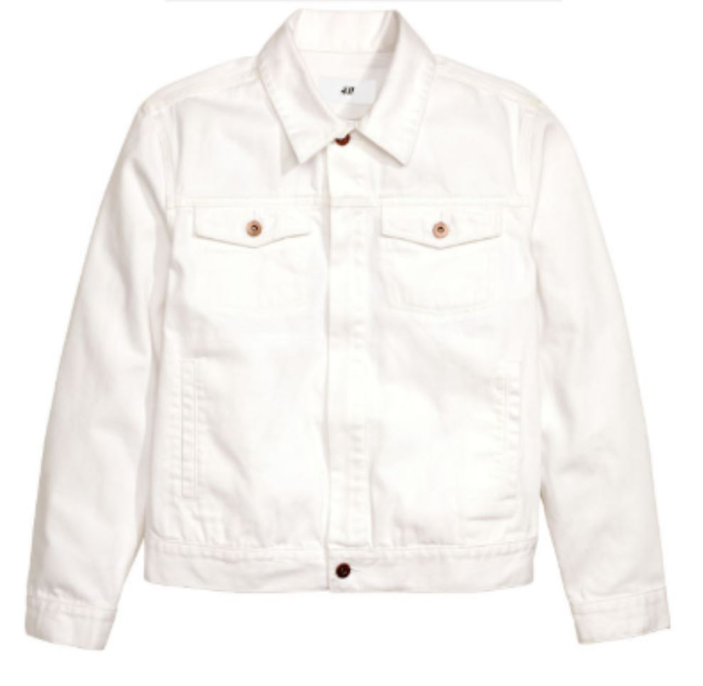 White Denim Jacket from hm.com