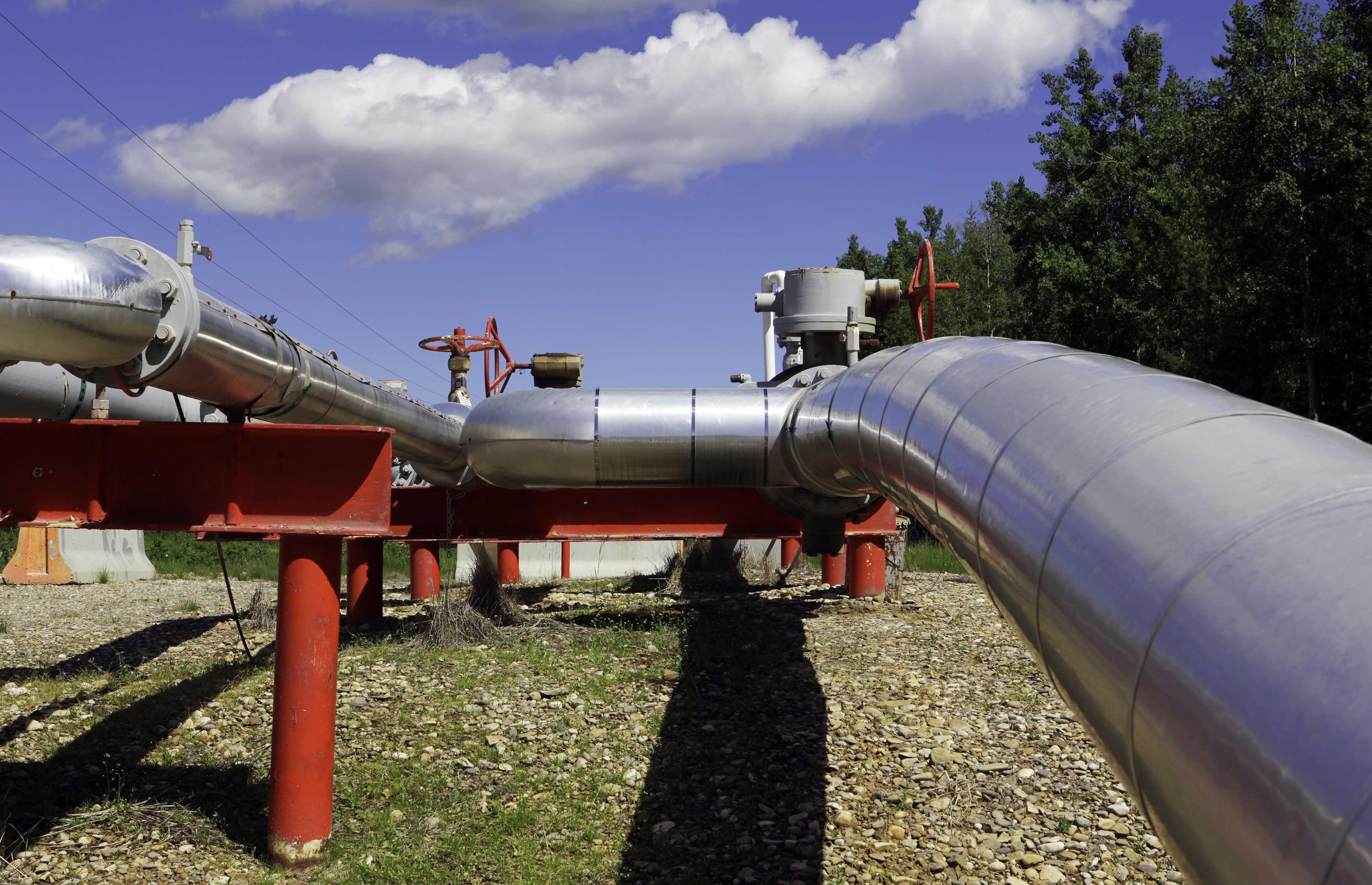 Image of pipeline riser