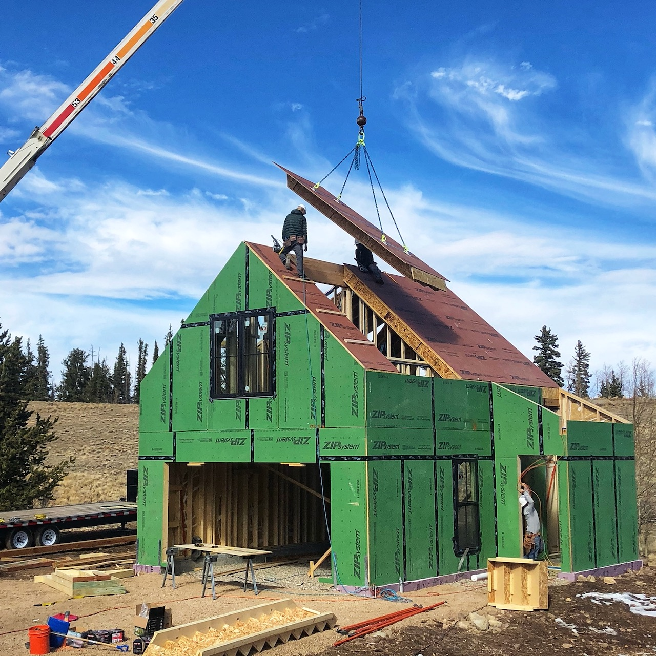 Panelized prefab accessory dwelling unit under construction in Colorado