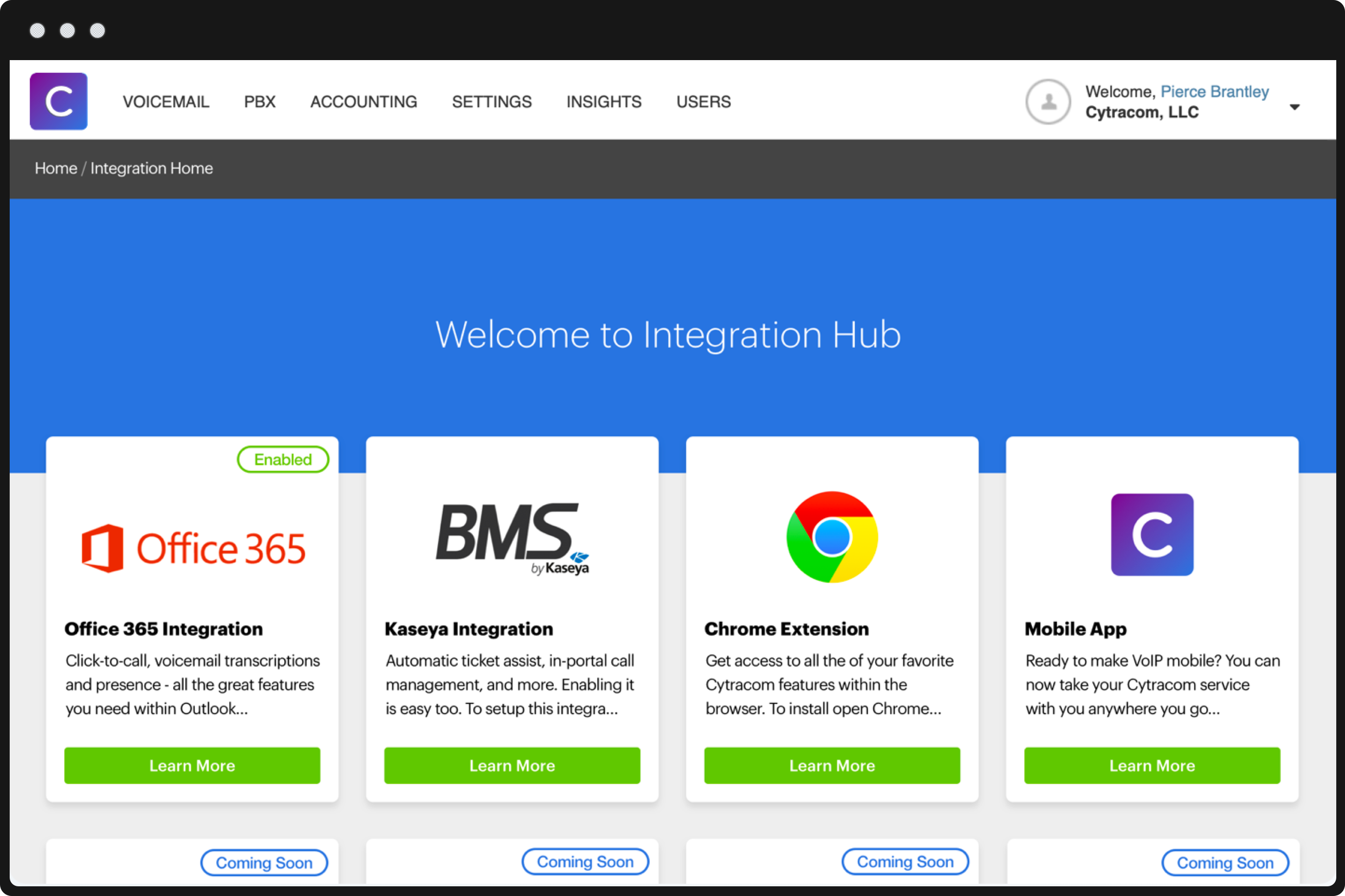 Cytracom Integration Hub